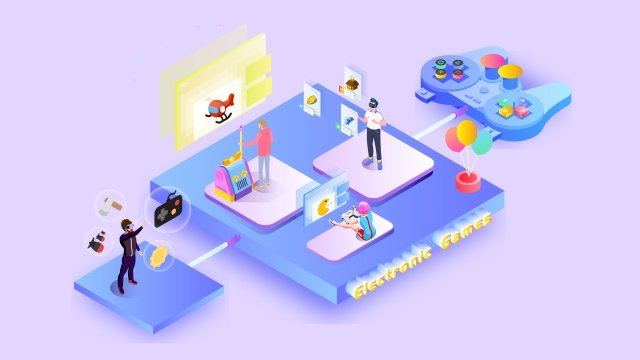 2 5d 미래 게임 오락 삽화 소재 삽화 이미지