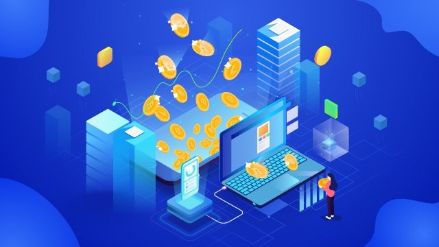 2 5d isometric financial house llustration image