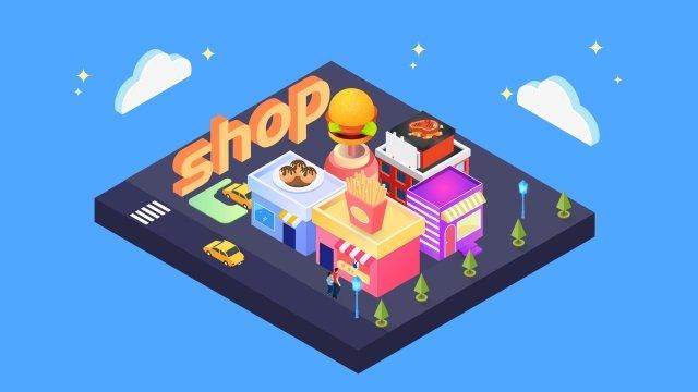 2 5d thực phẩm tiêu thụ minh họa stereo Hình minh họa