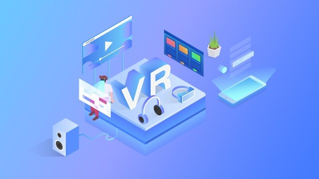 2 5d vr eye technology business, Workplace, Office, Jobs illustration image