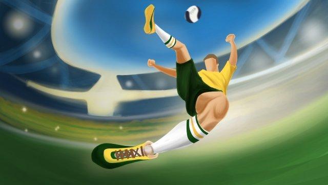 2018 fifa world cup football llustration image illustration image