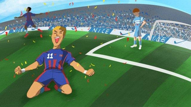 2018 fifaワールドカップサッカー イラスト素材