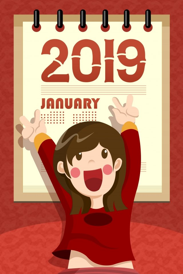 2019 new year calendar celebrate new years day illustration image