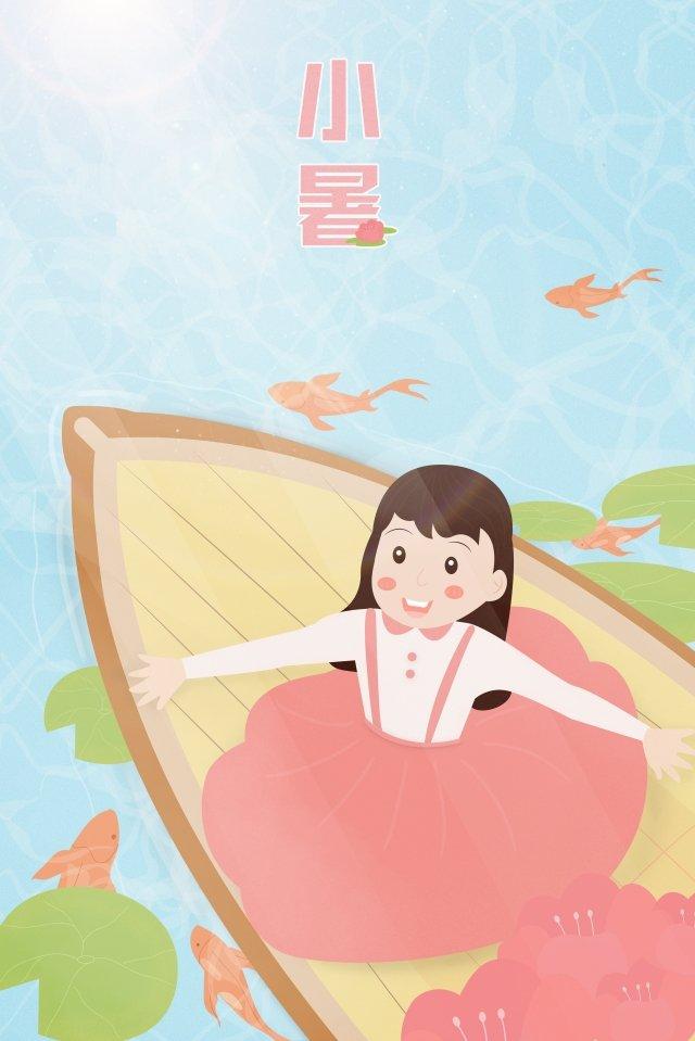 24 solar terms beginning of summer summer pond llustration image illustration image