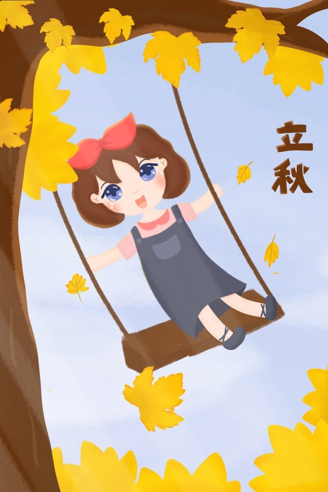 24 solar terms fall beginning of autumn autumnal, Maple Leaf, Maple, Fallen Leaves illustration image