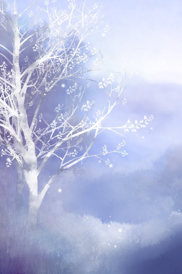 24 solar terms frost drop watercolor wind illustration llustration image illustration image