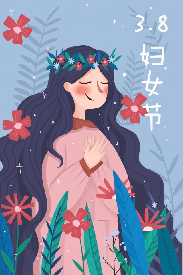 38 womens day goddess festival girl illustration llustration image