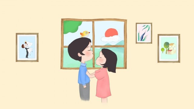 520 valentines day hand painted boys cartoon boy llustration image
