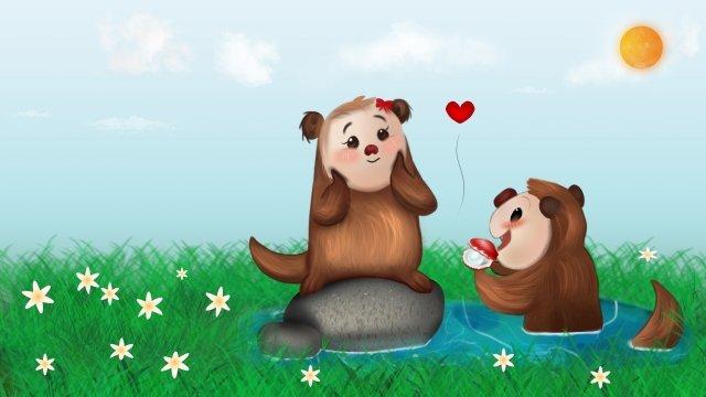 520 valentines day tanabata confession, Cartoon, Anime, Pearl illustration image