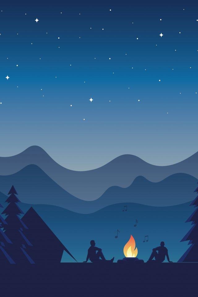 冒険旅行長い休暇夜 イラスト素材