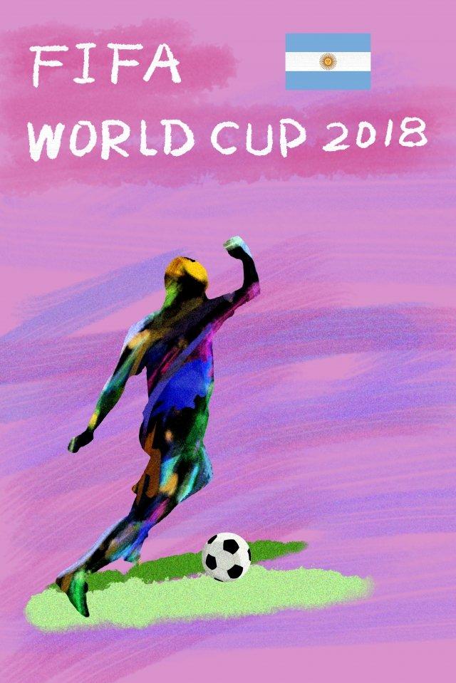 アゲニアンサッカーワールドカップ2018 イラスト素材 イラスト画像