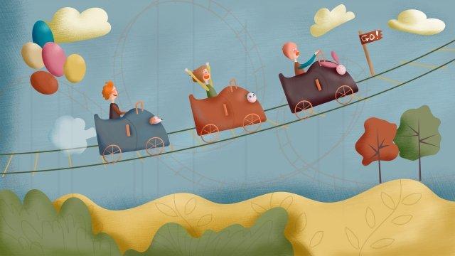 amusement park child roller coaster park llustration image