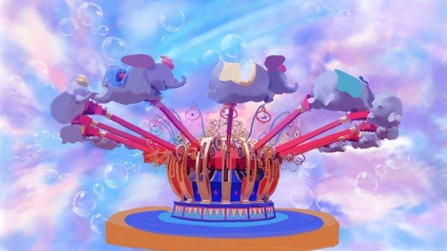 遊園地夢の乗り物バブル イラスト素材