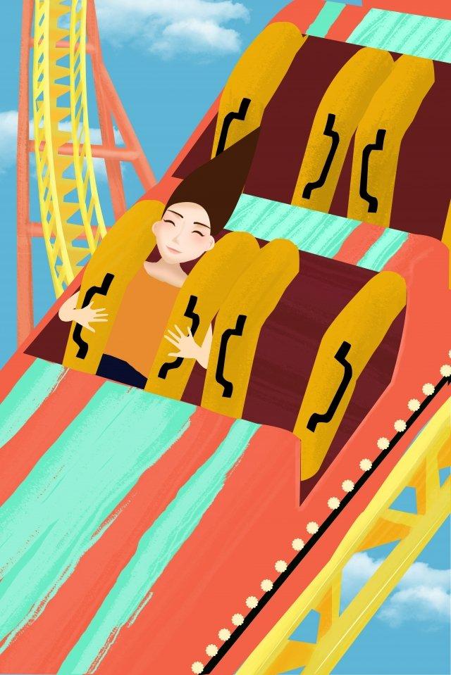 遊園地遊び場ハッピーアドベンチャー イラスト素材 イラスト画像