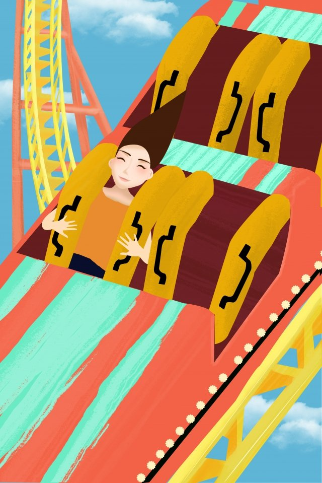 amusement park playground happy adventure llustration image illustration image