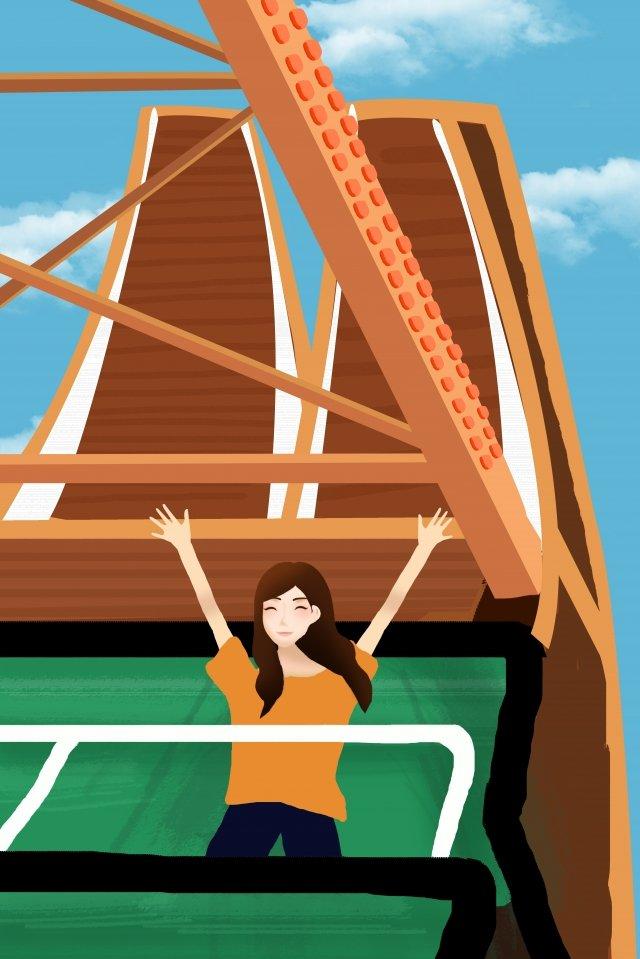 amusement park playground happy ferry llustration image