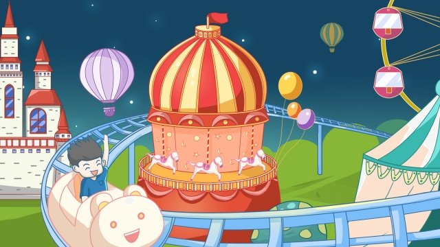 taman hiburan roller coaster ferris wheel castle imej keterlaluan imej ilustrasi