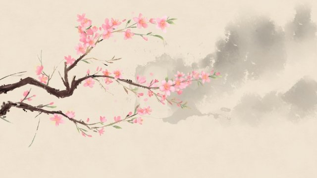 ancient flower painting chinese style antiquity classical llustration image illustration image