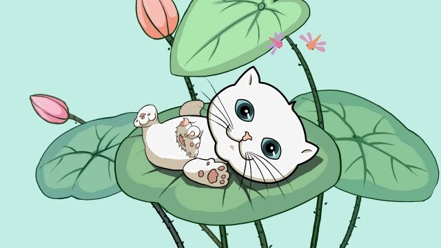 animal cat lovely cute pet, Cute, Cat, Animal illustration image