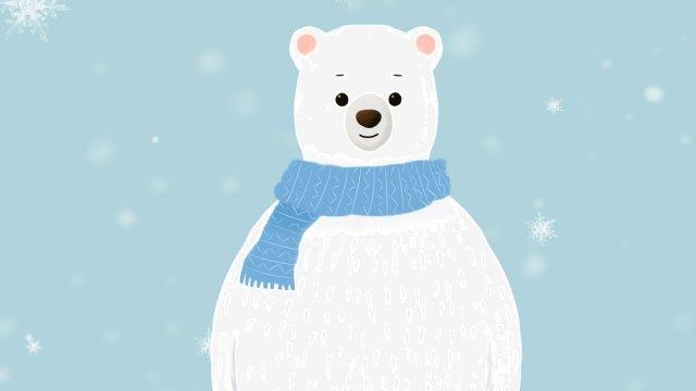 Animal illustration cute pet série grande urso branco Animal Ilustração Animal de estimaçãoCura  Mão  Desenhada PNG E PSD illustration image