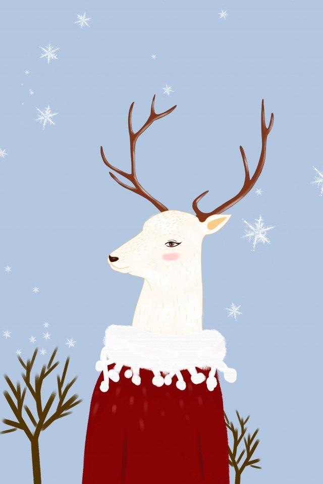 animal illustration cute pet miss deer, Healing, Japanese, Beautiful illustration image