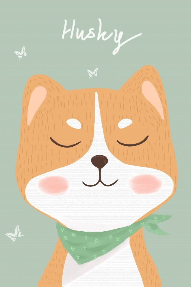 animal illustration hand painted cute pet, Dog, Animal, Cute Pet illustration image