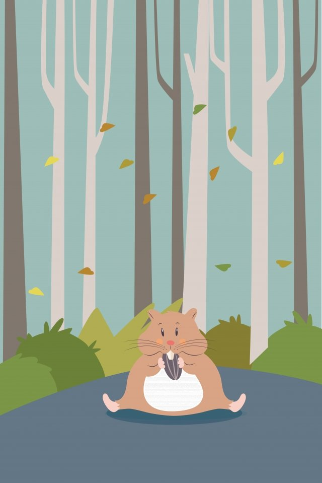 animal mole fall forest llustration image