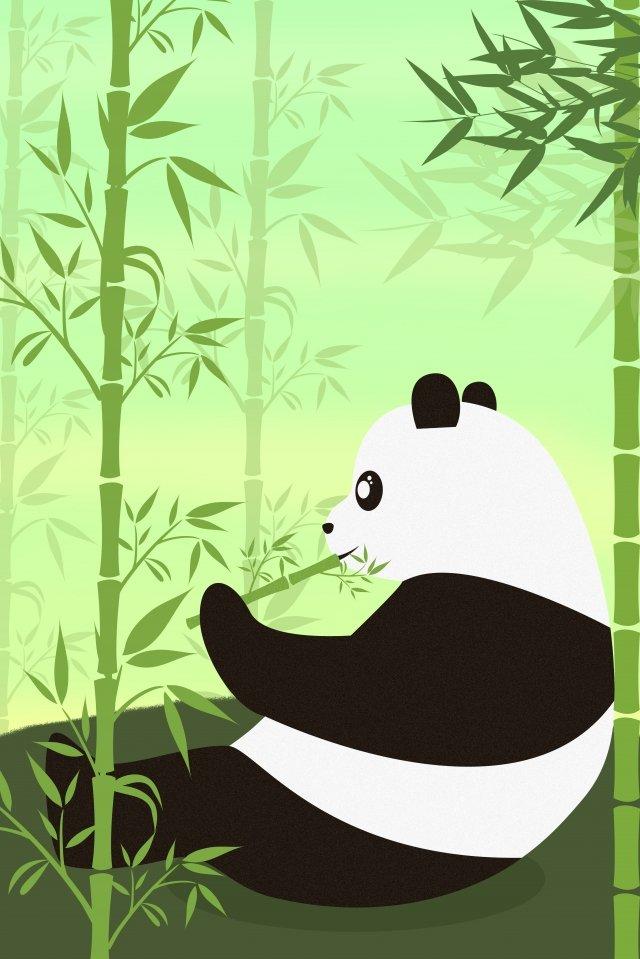 Ilustração de panda animal protegida nacional Animal Animal protegido nacional Panda PandaBambu  Ilustração  De PNG E PSD illustration image