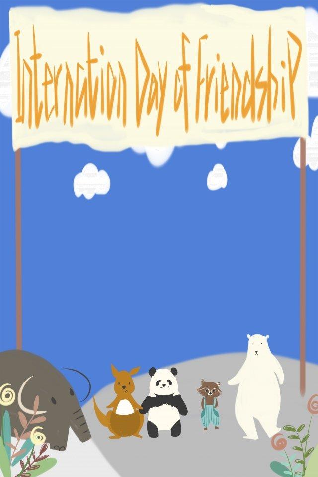 động vật quốc gia tình bạn quốc tế Hình minh họa