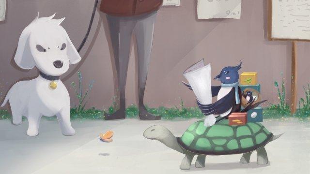 животные маленькие животные собака черепаха Ресурсы иллюстрации Иллюстрация изображения
