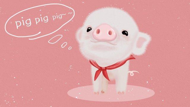 tema animal mão porco porco bonito desenhado Material de ilustração Imagens de ilustração