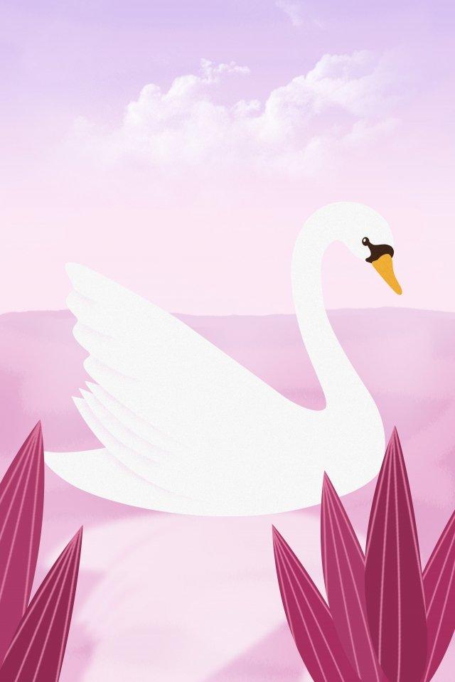 animais selvagens animais cisne cisne branco Material de ilustração