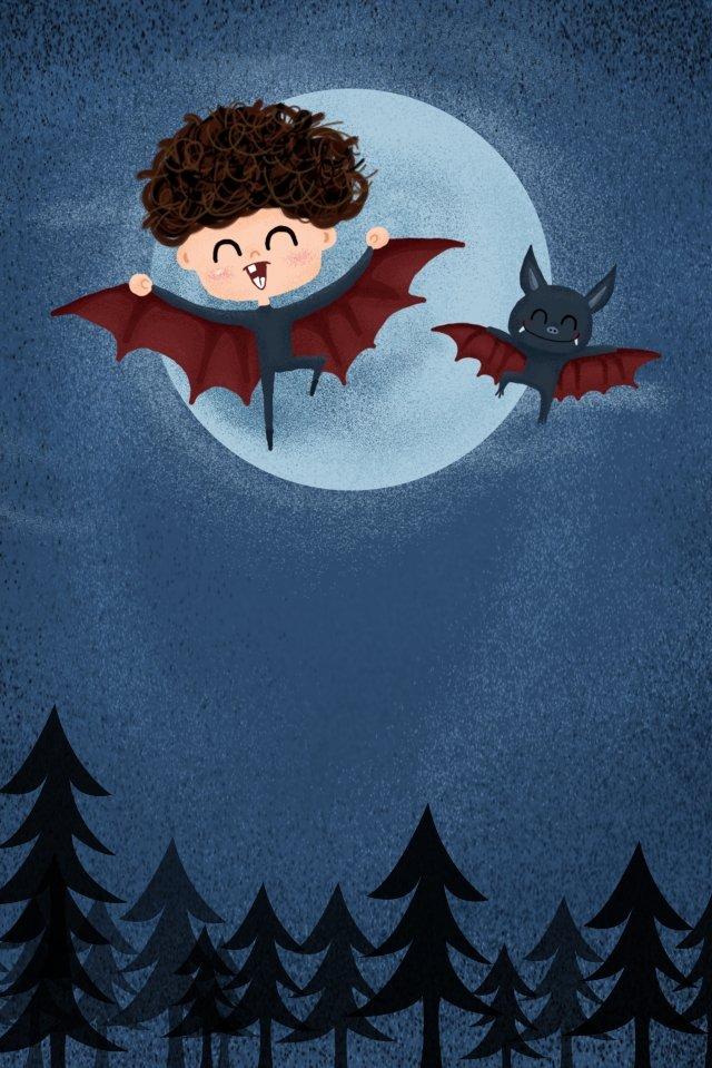 4月の愚か者日暗い夜子供子供 イラストレーション画像