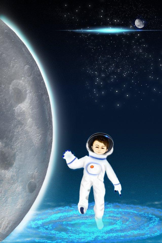 phi hành gia không gian đi bộ bầu trời đầy sao Hình minh họa Hình minh họa
