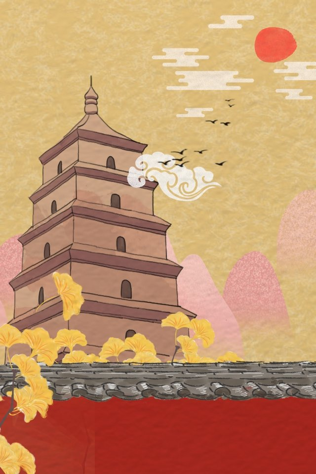 attractions landmark tourism da yan tower llustration image