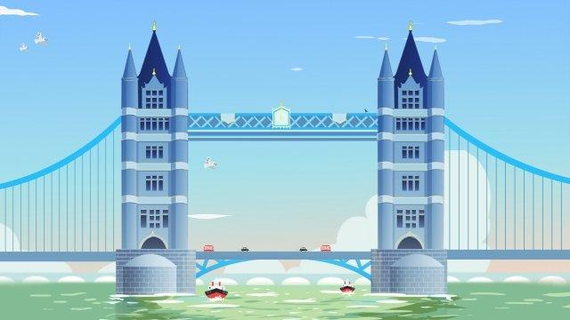 attractions united kingdom london bridge cool color, Colors, Attractions, United Kingdom illustration image