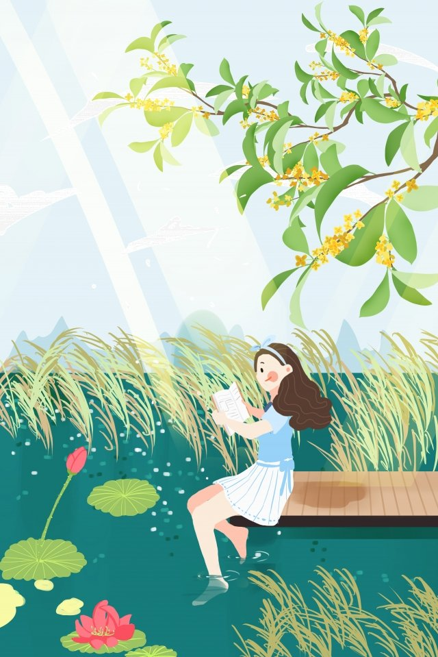august hello in august august 8, Summer, Summer Vacation, Outdoor illustration image