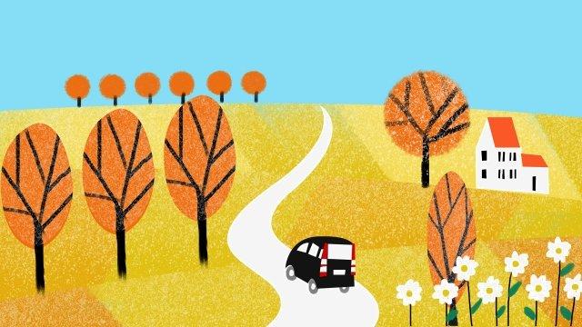 가을의 가을 가을의 가을의 시작 삽화 소재 삽화 이미지
