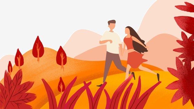 가을의 가을 가을의 가을의 시작 삽화 소재
