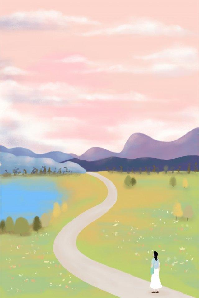 秋24太陽条件白露手描きイラスト イラスト素材 イラスト画像