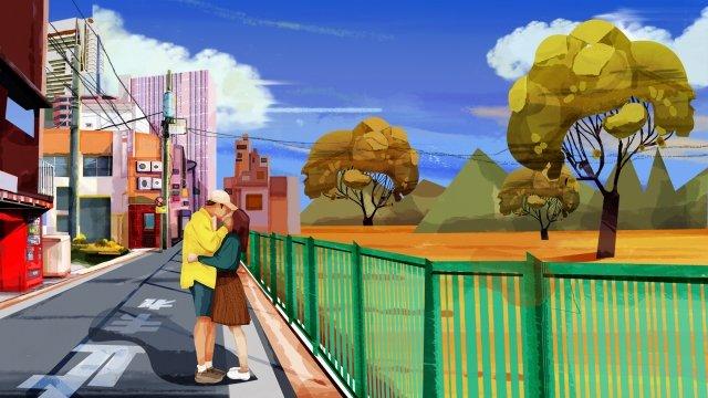 가을 겨울 아름 다운 그림 야외 일러스트 레이션 아웃 도어 일러스트 레이션 삽화 소재 삽화 이미지