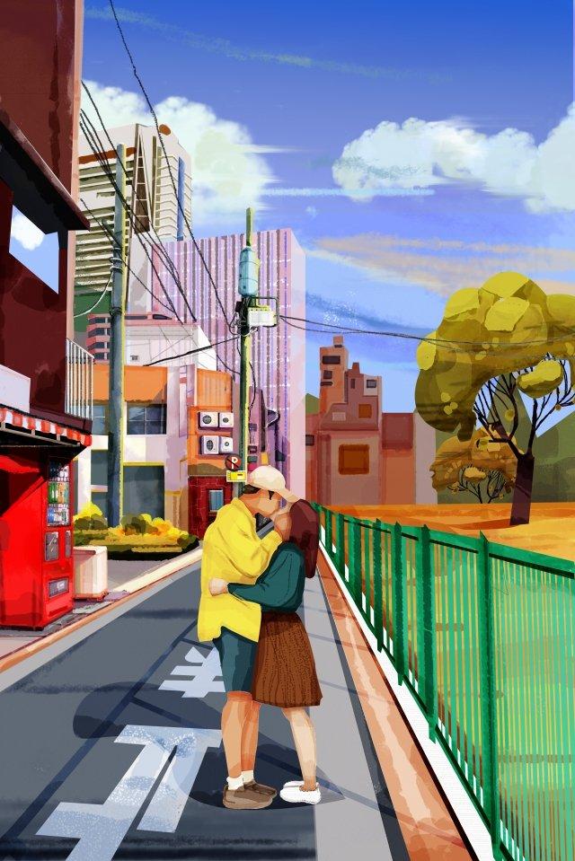 가을 겨울 아름 다운 그림 야외 일러스트 레이션 아웃 도어 일러스트 레이션 삽화 이미지