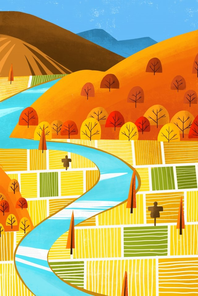 autumnal fall autumn autumn, Wheat Field, Field, Landscape illustration image