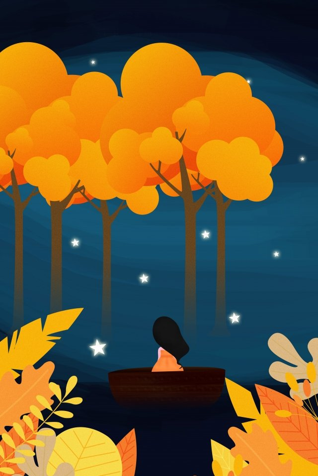autumnal fall autumn leaves character llustration image illustration image