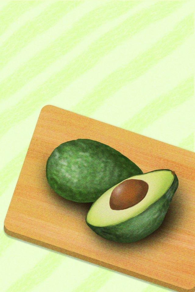 아보카도 과일 음식 녹색 음식 삽화 소재