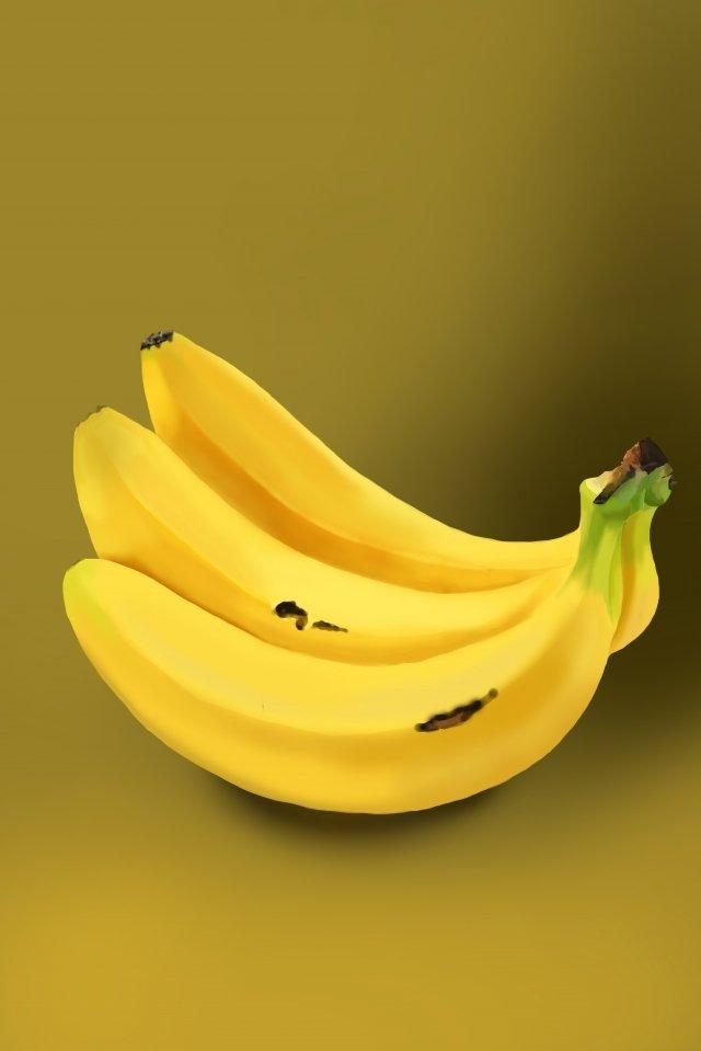 バナナゴールデンバナナ弓バナナフルーツ イラストレーション画像