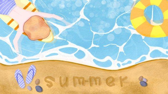 ビーチビーチ涼しい夏の日夏 イラスト素材