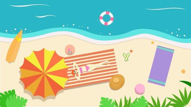 sóng biển tắm nắng Hình minh họa Hình minh họa