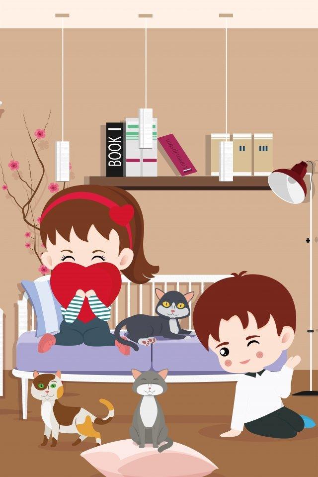 美しい中国のバレンタインの日イラスト七夕手七夕ポスター臆病者とウィーバーの女の子イラスト イラスト素材 イラスト画像