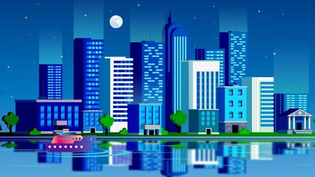 아름다운 도시 건축물 그림 이미지 일러스트레이션 이미지